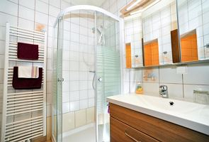 Single room, shower or bath, toilet, modern conveniences