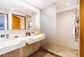 Suite, separate toilet and shower/bathtub, south
